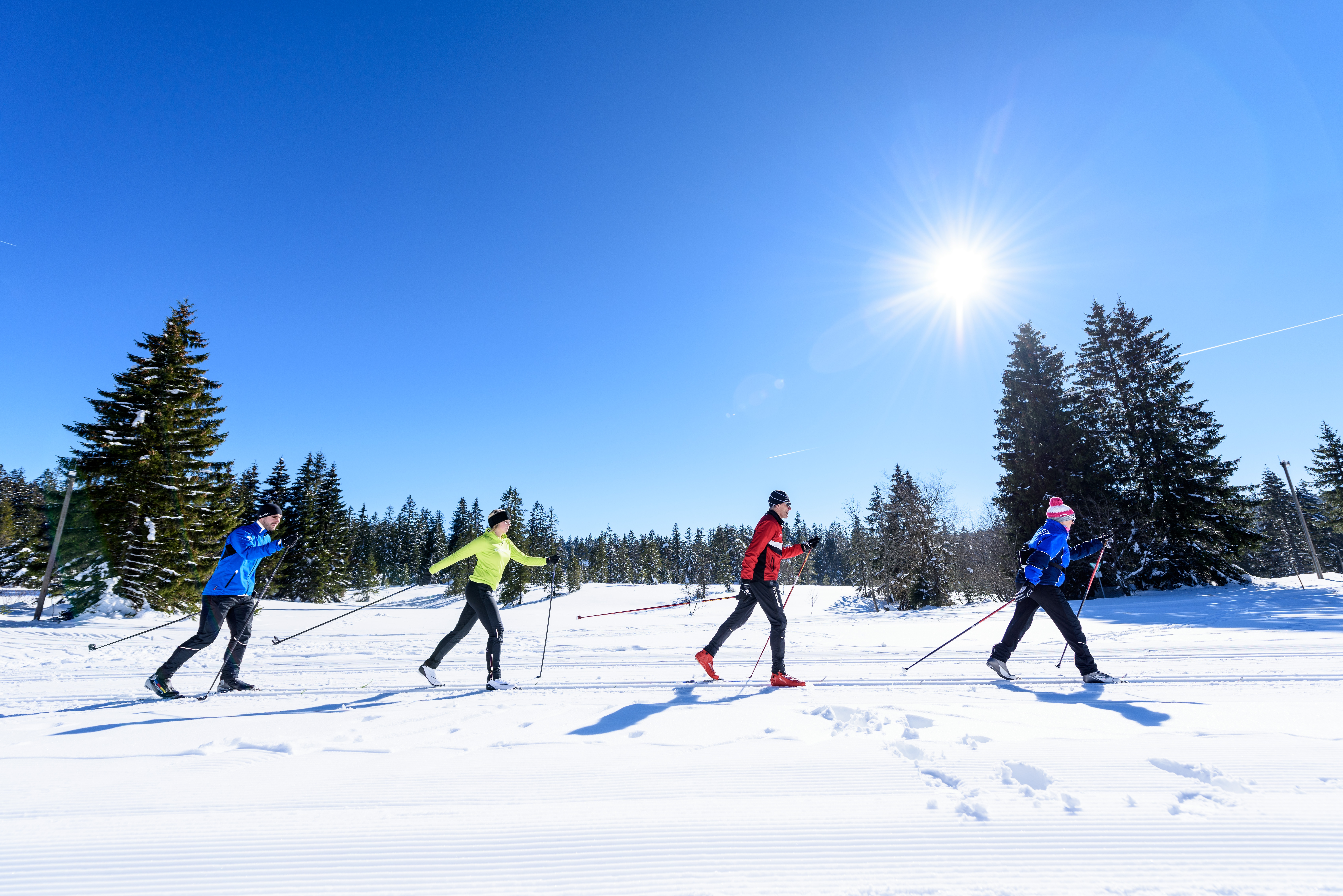 Skilanglauf im Ferienland