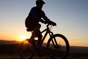 Radtouren bei Sonnenaufgang