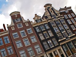 Häuserreihe in Amsterdam