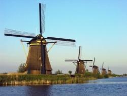 Die Windmühlen von Kinderdijk, Niederlande