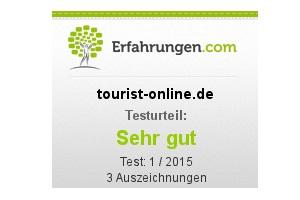 """tourist-online.de erhält das Testurteil """"Sehr gut"""""""